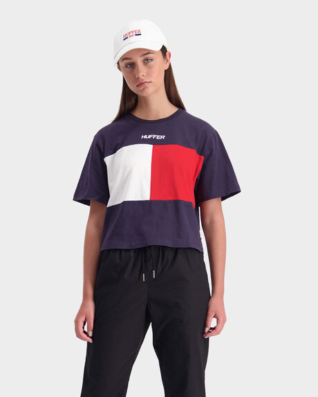 BELLA FLAG SHORT SLEEVE TEE