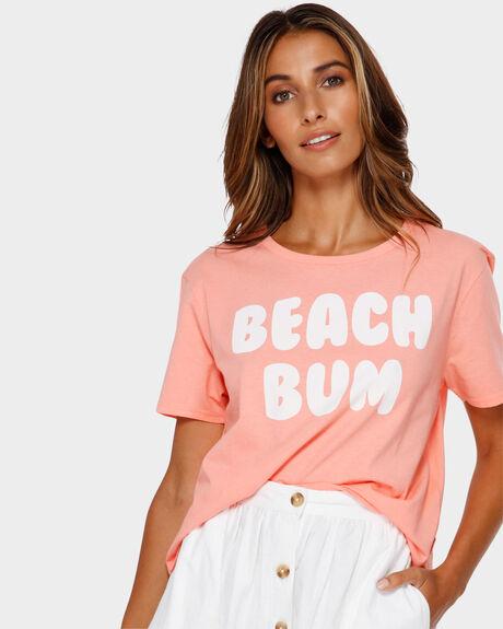 BEACH BUM CROP TEE
