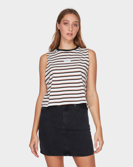 PATCH STRIPE MUSCLE TEE