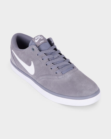 NIKE SB CHECK SOLARSOFT GREY/ WHITE SHOE