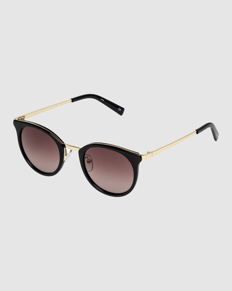 NO LURKING BLACK SMOKE MONO ROUND SUNGLASSES