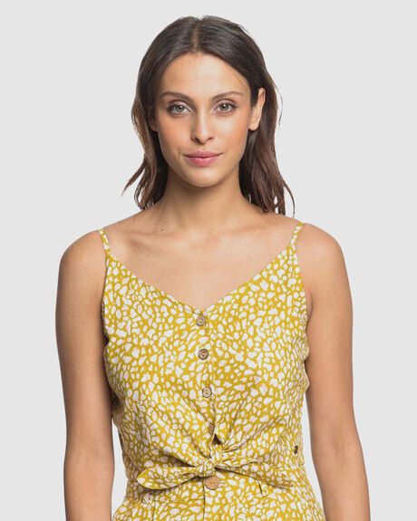 WOMENS TINY MUTINIES BUTTONED STRAPPY CROP TOP