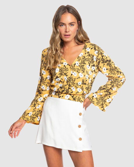 WOMENS LIKE GOLD BLOUSE