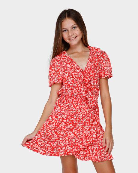 POPPY FLORAL WRAP DRESS