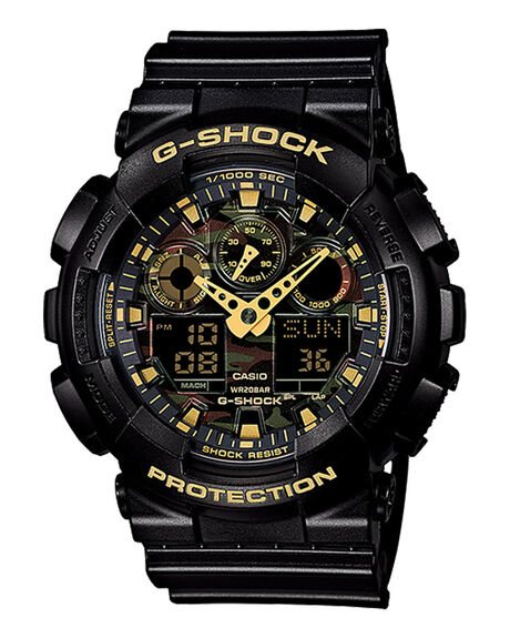 G-SHOCK GA100CF-1A9 - BLACK GREEN CAMO