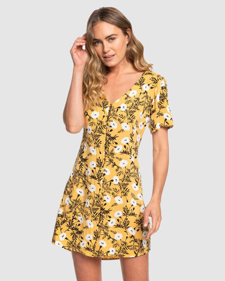 DAMAGE LOVE BUTTON DRESS