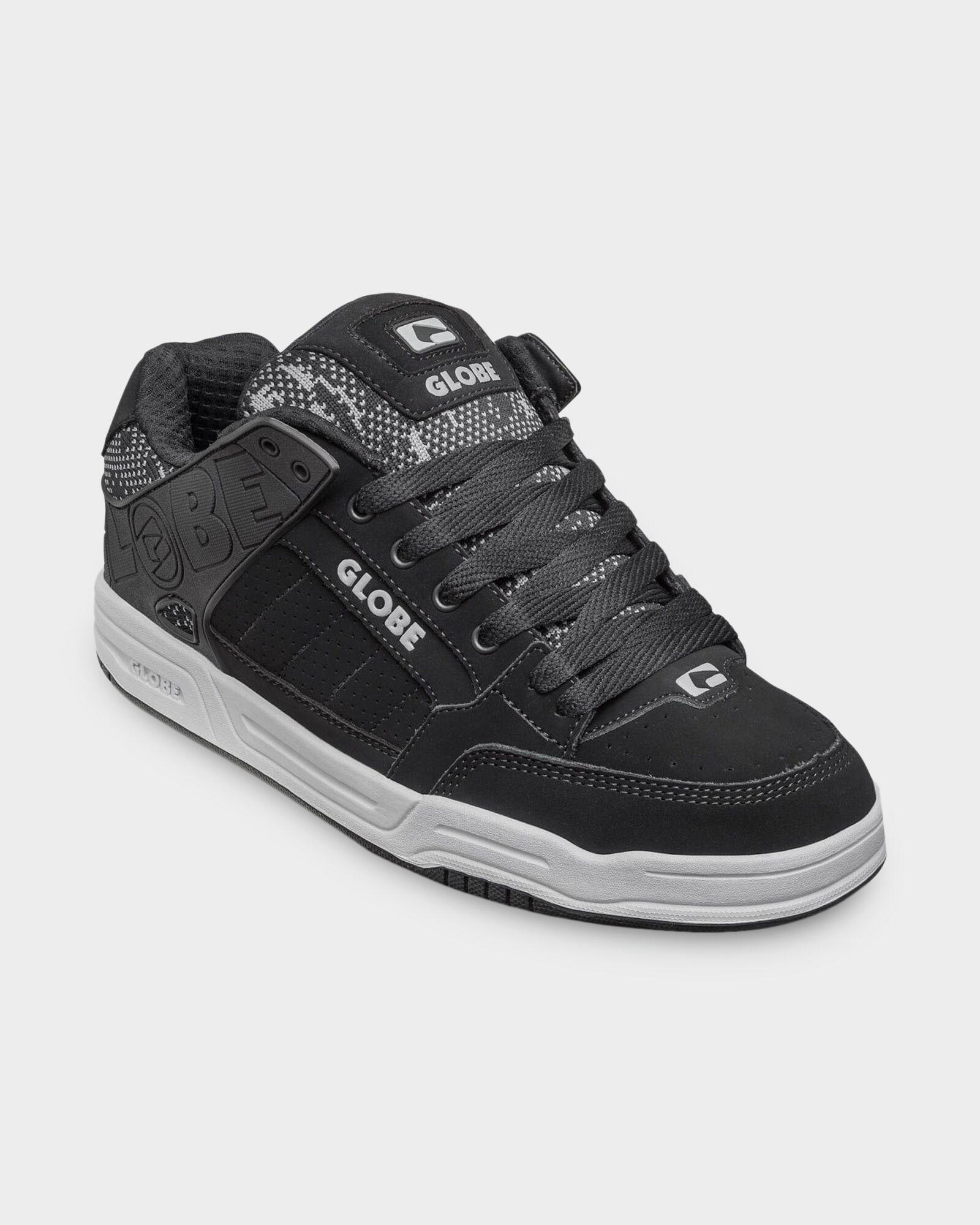 Black Jacquard Globe Tilt Shoes