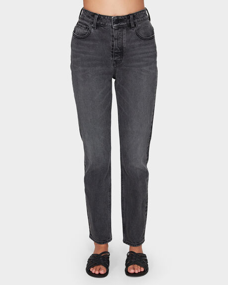 HIGH STRAIGHT HYSTERIC BLACK JEANS