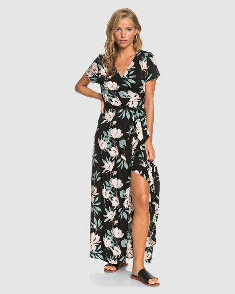 DISTRICT DAY MAXI WRAP DRESS
