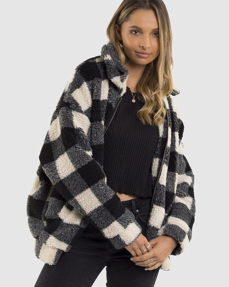 CHECKER TEDDY JACKET