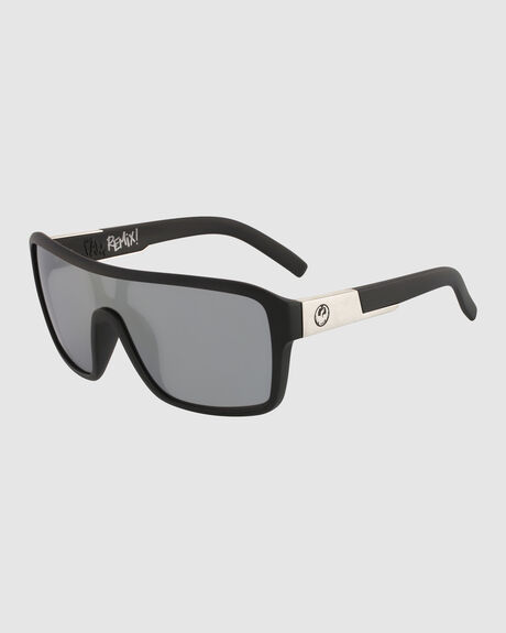 REMIX MATTE BLACK SILVER ION LUMALENS SUNGLASSES