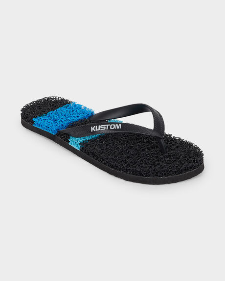 BOYS NOODLE SURF STRIPE BLACK/BLUE