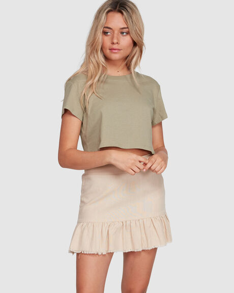 FRAYED FRILL SKIRT