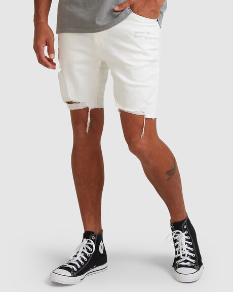 A DROPPED SKINNY SHORT WHITE H