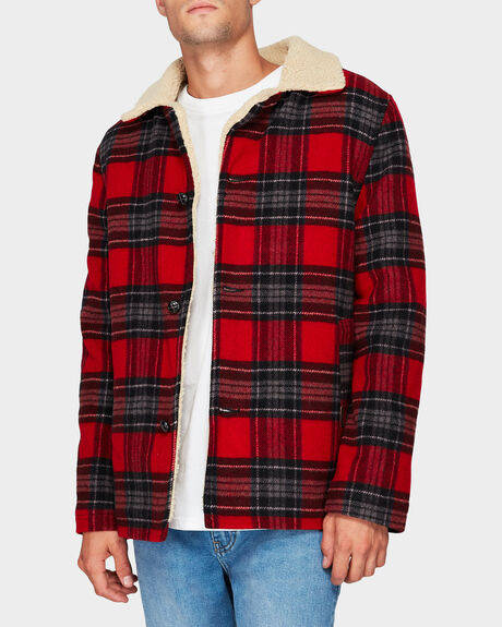 CABIN JACKET RED CHECK JACKET
