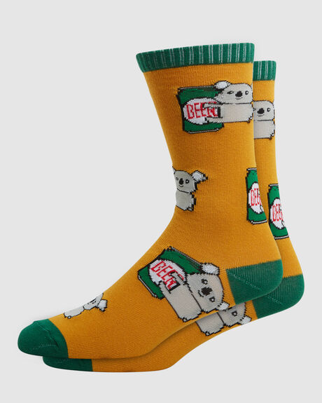 MENS CREW KOALA BEER SOCK