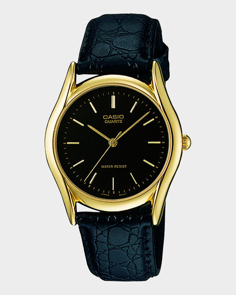 CLASSIC - BLK LEATHER/ GOLD