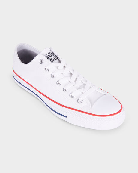 CTAS PRO LOW CANVAS WHT/RED