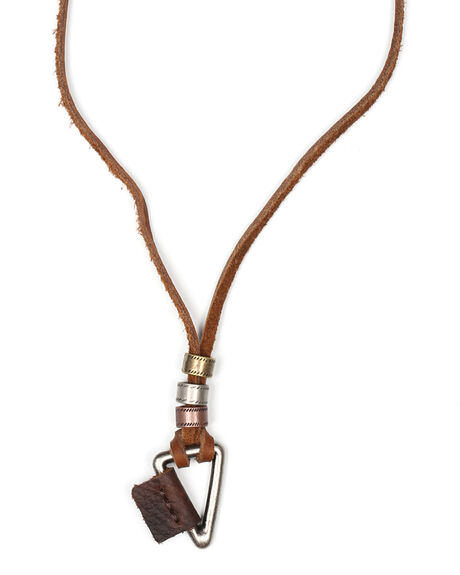 TRIANGLE ON LEATHER NECKLACE
