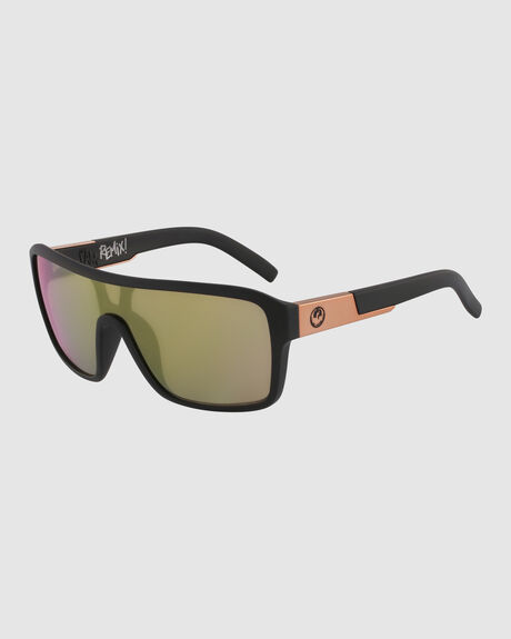 REMIX LL ION/60/MATTE BLACK/ ROSE GOLD ION SUNGLASSES