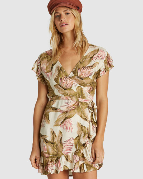WRAP AND ROLL WRAP DRESS