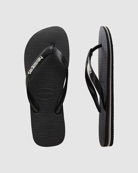 14db1253642d Black Glacial HAVAIANAS LOGO FILETE BLACK WHITE THONG