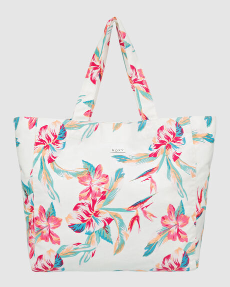 ANTI BAD VIBES PRINTED BEACH BAG