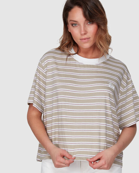 AVERY STRIPE OS TEE