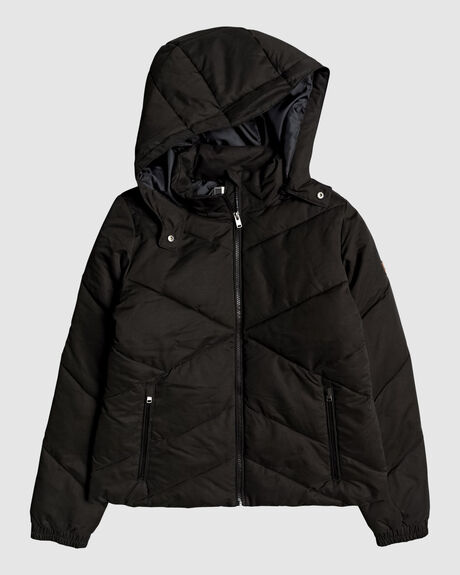 WOMENS NO GOODBYES HOODED PUFFER JACKET