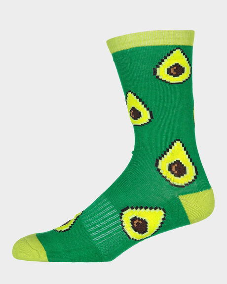 AVOCADO CREW SOCK - 1 PAIR