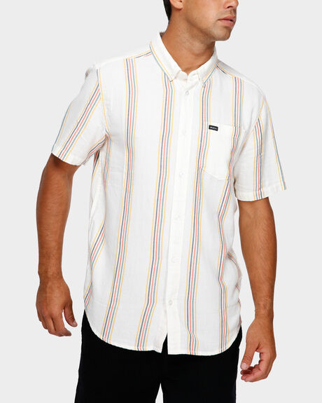 SPLIT STRIPE SHORT SLEEVE