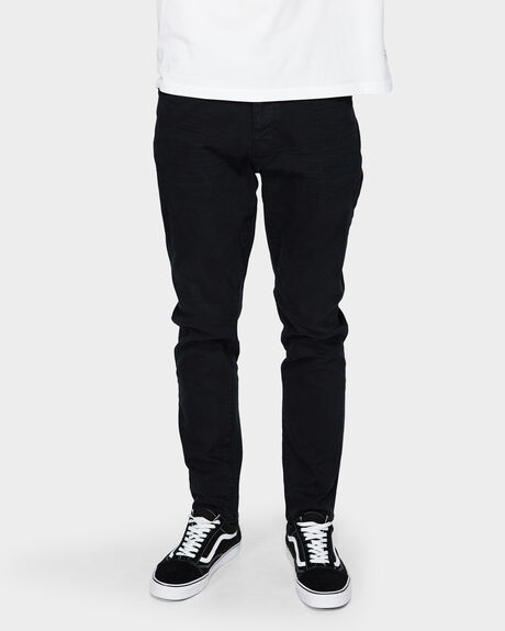 RAY TAPERED NORTH BLACK JEANS