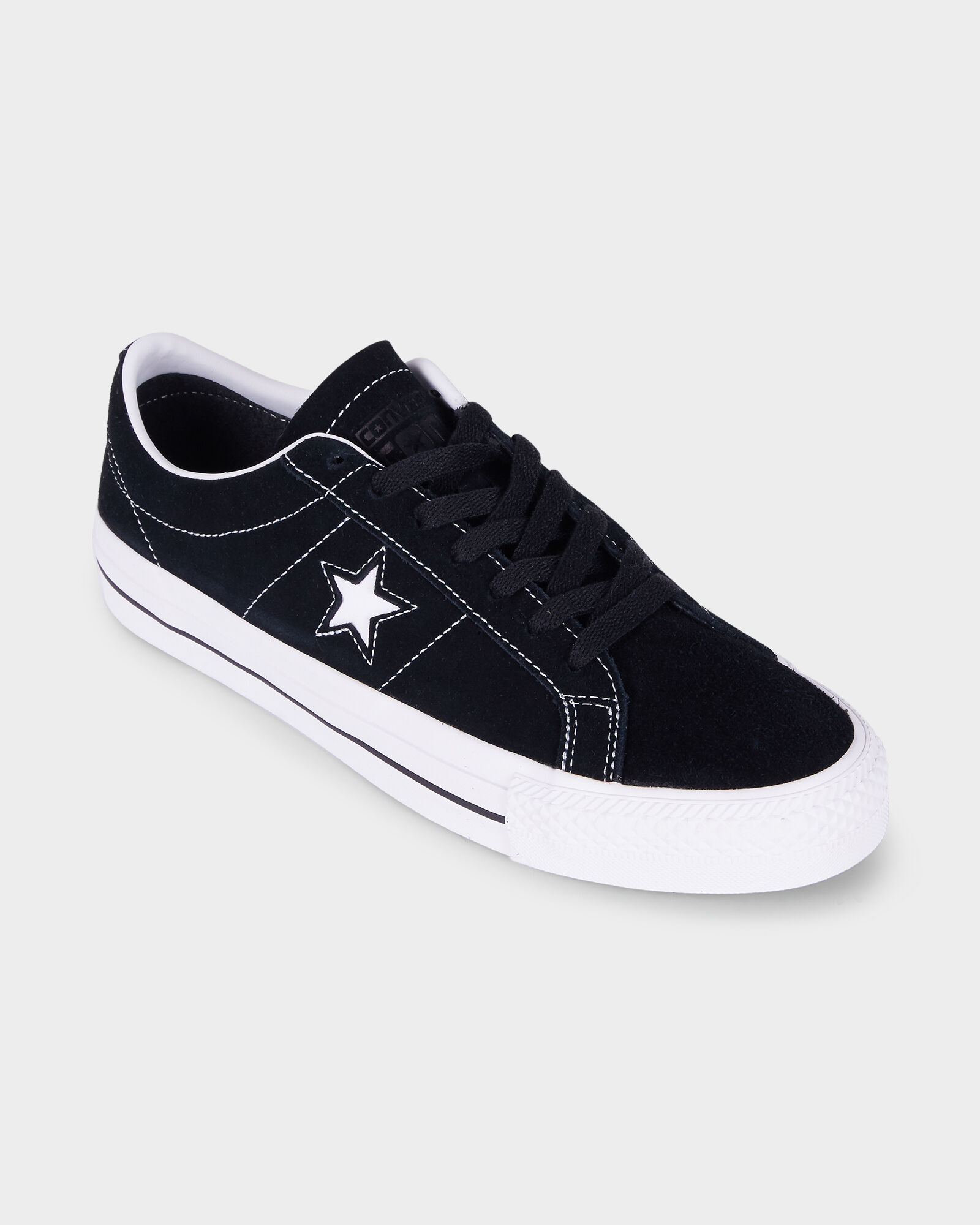 CONVERSE ONE STAR PRO LOW SUEDE BLACK
