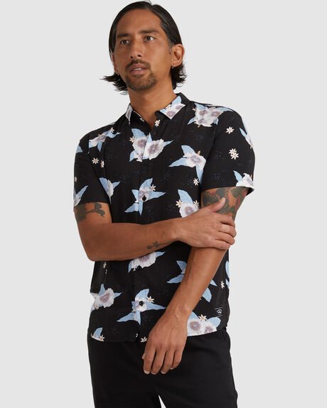 COCKTAIL HOUR SS WOVEN SHIRT