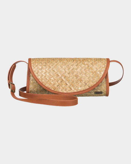 SHE JUST SHINES SMALL STRAW CLUTCH BAG