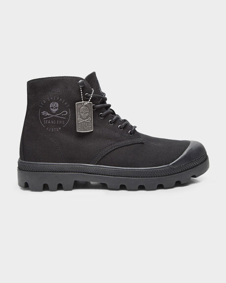 KUSTOM SEA SHEPHERD LIMITED EDITION COMBAT BLACK/ BLACK BOOT