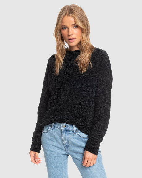 WOMENS MISS IT ALL CHENILLE KNIT SWEATER