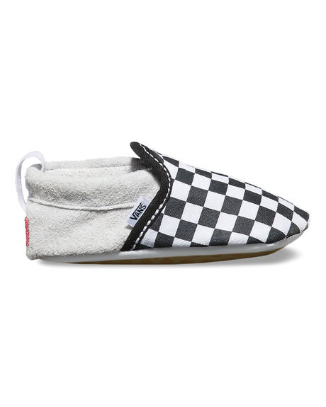 SLIP-ON V CRIB (CHECKER) BLACK / TRUE WHITE