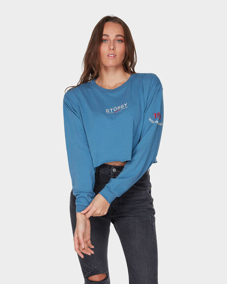 KNOWLES CROP LS TEE