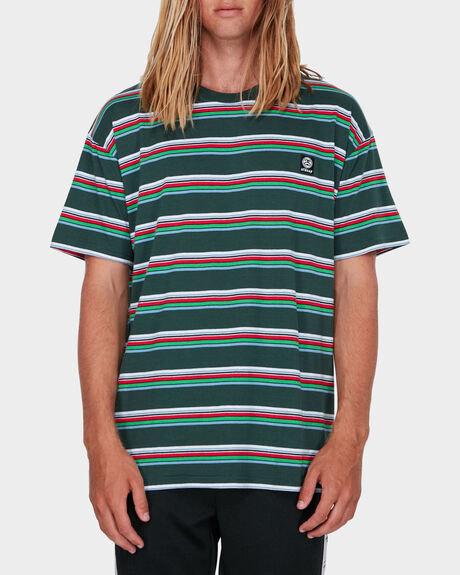 BOXED STRIPE SS TEE