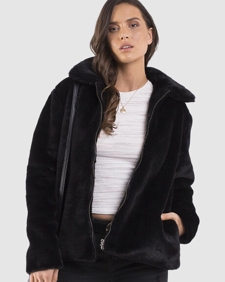 ADRIANA FAUX FUR JACKET