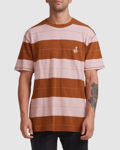 PEACE MARCH STRIPE SS TEE