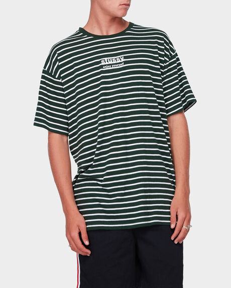 ENJOY STRIPE SS TEE