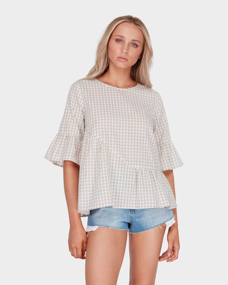 FRILLED GINGHAM TOP