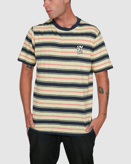 MENS DUDES STRIPE SHORT SLEEVE TEE