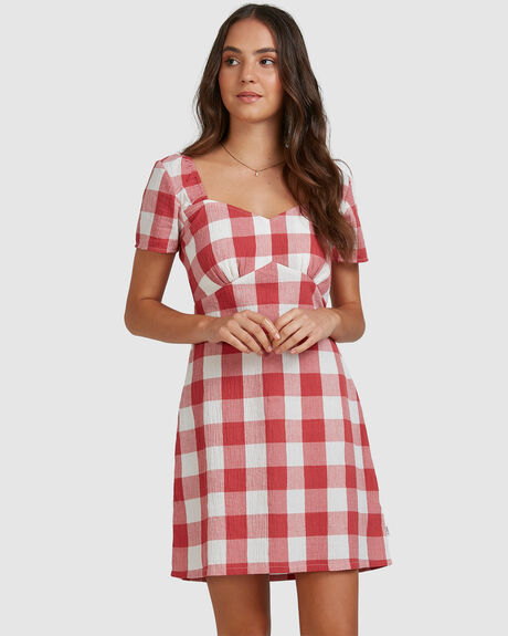 CHECKED OUT DRESS