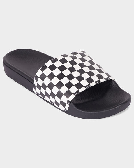 SLIDE-ON (CHECKERBOARD) WHITE SLIDE