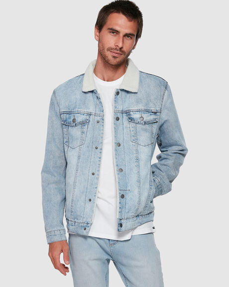 MENS WANDERER DENIM JACKET SHERPA