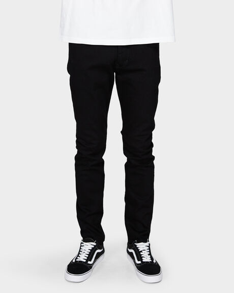 MENS IGGY SKINNY POLAR BLACK JEAN