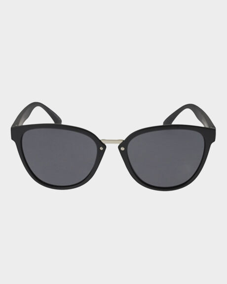SUMMERLAND BLACK SATIN SUNGLASSES